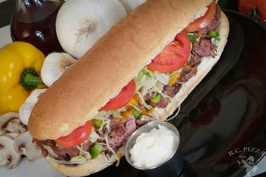 038 CHEESE STEAK HOAGIE
