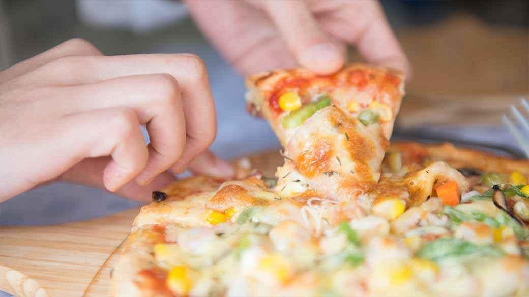 Deep dish gourmet pizza