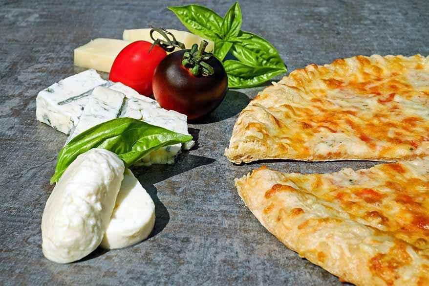 Thin crust gourmet pizza